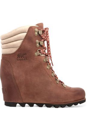 SOREL Conquest™ leather wedge boots