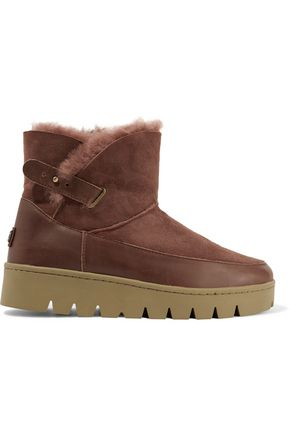 AUSTRALIA LUXE COLLECTIVE Cameron leather-trimmed shearling platform boots