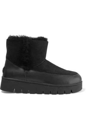 AUSTRALIA LUXE COLLECTIVE Icon leather-paneled shearling ankle boots