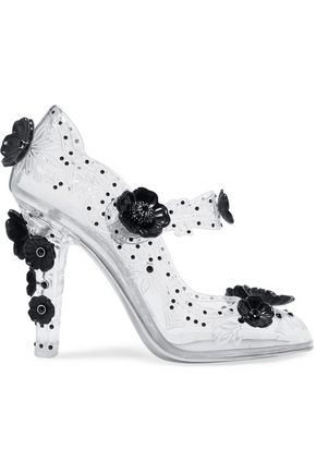 DOLCE & GABBANA Bette embellished PVC pumps