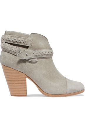 RAG & BONE Harrow braided suede ankle boots