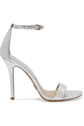 MICHAEL KORS COLLECTION Jacqueline metallic elaphe sandals