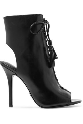 MICHAEL KORS COLLECTION Bolton cutout glossed-leather ankle boots