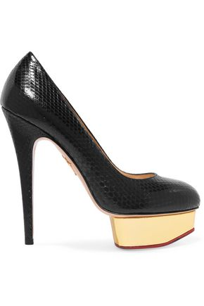 CHARLOTTE OLYMPIA Dolly python platform pumps