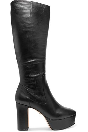 SCHUTZ Benetto leather platform knee boots