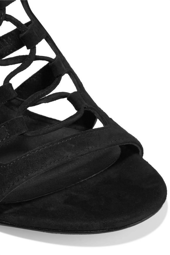e85ac7a5a8f5 Bardot cutout suede sandals