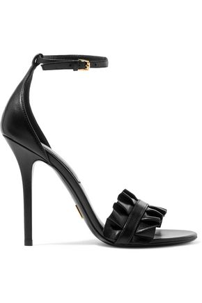 MICHAEL KORS COLLECTION Priscilla ruffled leather sandals