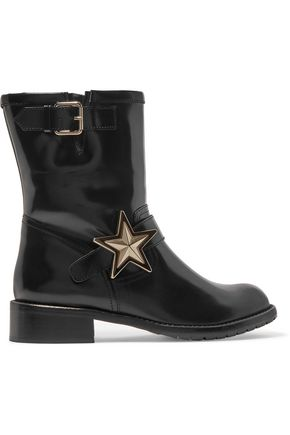 REDValentino Embellished leather boots