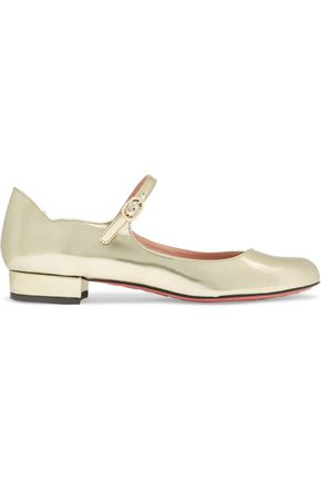REDValentino Metallic leather ballet flats