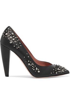 REDValentino Embellished leather pumps