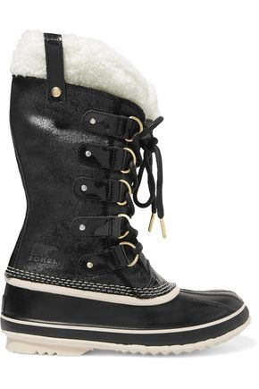 SOREL Joan of Arctic waterproof shearling-trimmed leather boots