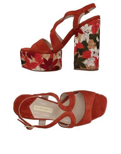 Фото - Женские сандали PALOMA BARCELÓ ржаво-коричневого цвета