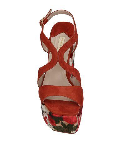 Фото 2 - Женские сандали PALOMA BARCELÓ ржаво-коричневого цвета