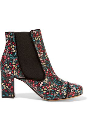 TABITHA SIMMONS Micki floral-print leather ankle boots