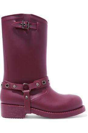 RED(V) Embellished rubber rain boots