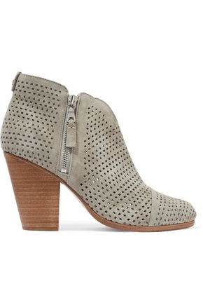 RAG & BONE Margot perforated suede ankle boots