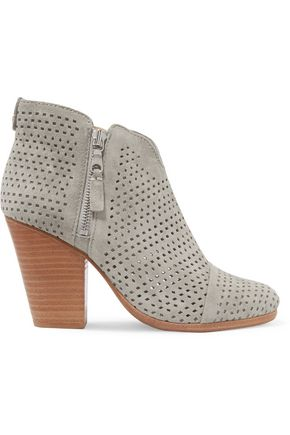 RAG & BONE Margot laser-cut suede ankle boots