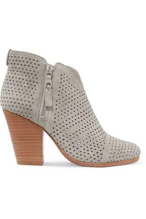 RAG & BONE Margot laser-cut suede ankle boots