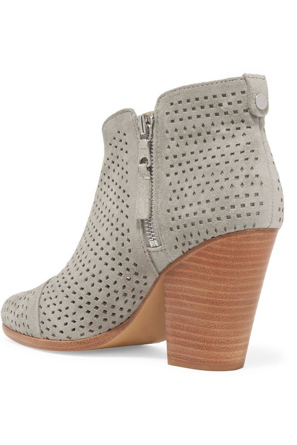 Margot laser-cut suede ankle boots | RAG & BONE | Sale up to 70% off | THE  OUTNET