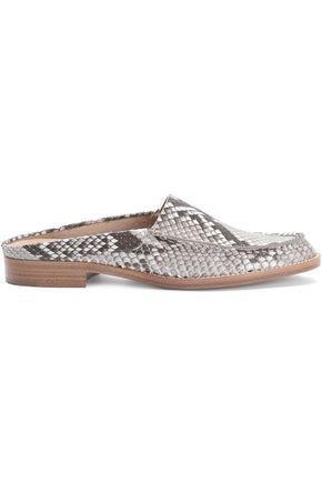 WOMAN PYTHON SLIPPERS GRAY