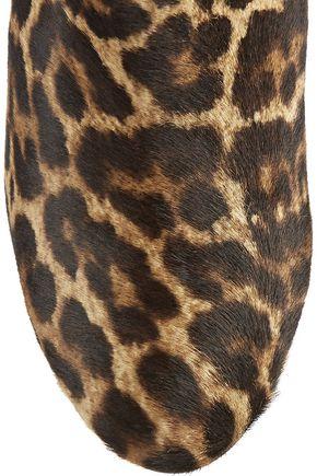 CHRISTIAN LOUBOUTIN Fifi 100 leopard-print calf hair ankle boots