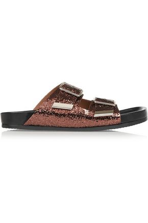 GIVENCHY Glittered leather sandals