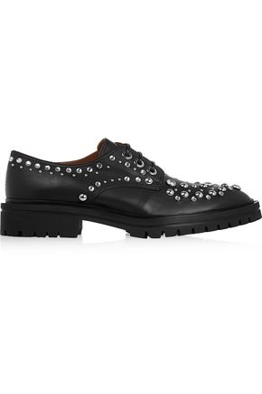 GIVENCHY Derby leather brogues with silver eyelets and studs
