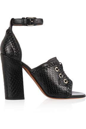 GIVENCHY Nekka elaphe and leather sandals