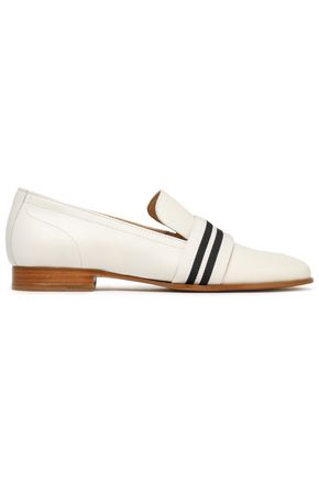 RAG & BONE Amber grosgrain-trimmed leather loafers
