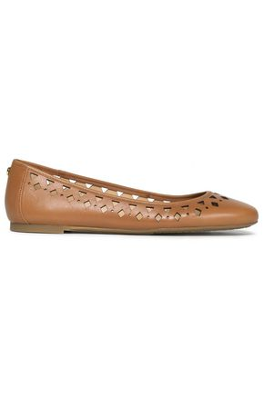 MICHAEL MICHAEL KORS Laser-cut leather ballet flats