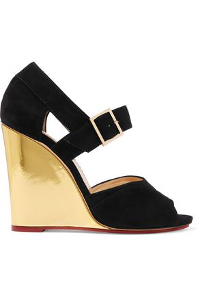 CHARLOTTE OLYMPIA Marcella suede wedge sandals