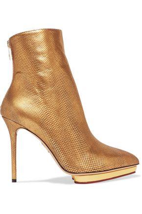 CHARLOTTE OLYMPIA Deborah metallic karung ankle boots