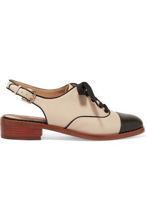 SAM EDELMAN Damian two-tone leather slingback brogues