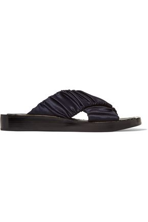 3.1 PHILLIP LIM Nagano ruched satin slides