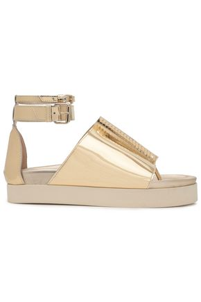 ELLERY Mirrored-leather sandals