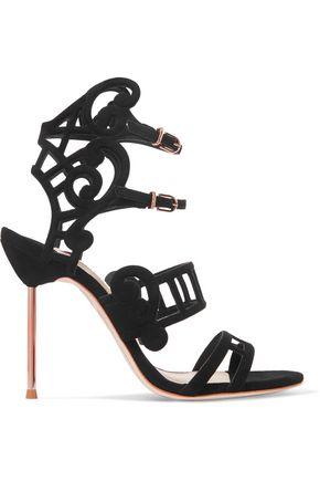 SOPHIA WEBSTER Birdie cutout suede sandal