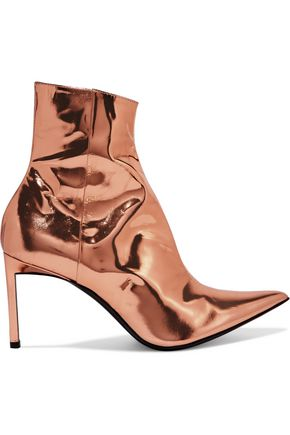 HAIDER ACKERMANN Metallic leather ankle boots