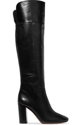 TORY BURCH Bowie patchwork leather over-the-knee boots