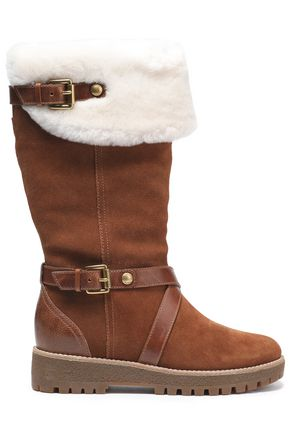 MICHAEL MICHAEL KORS Shearling-lined suede boots