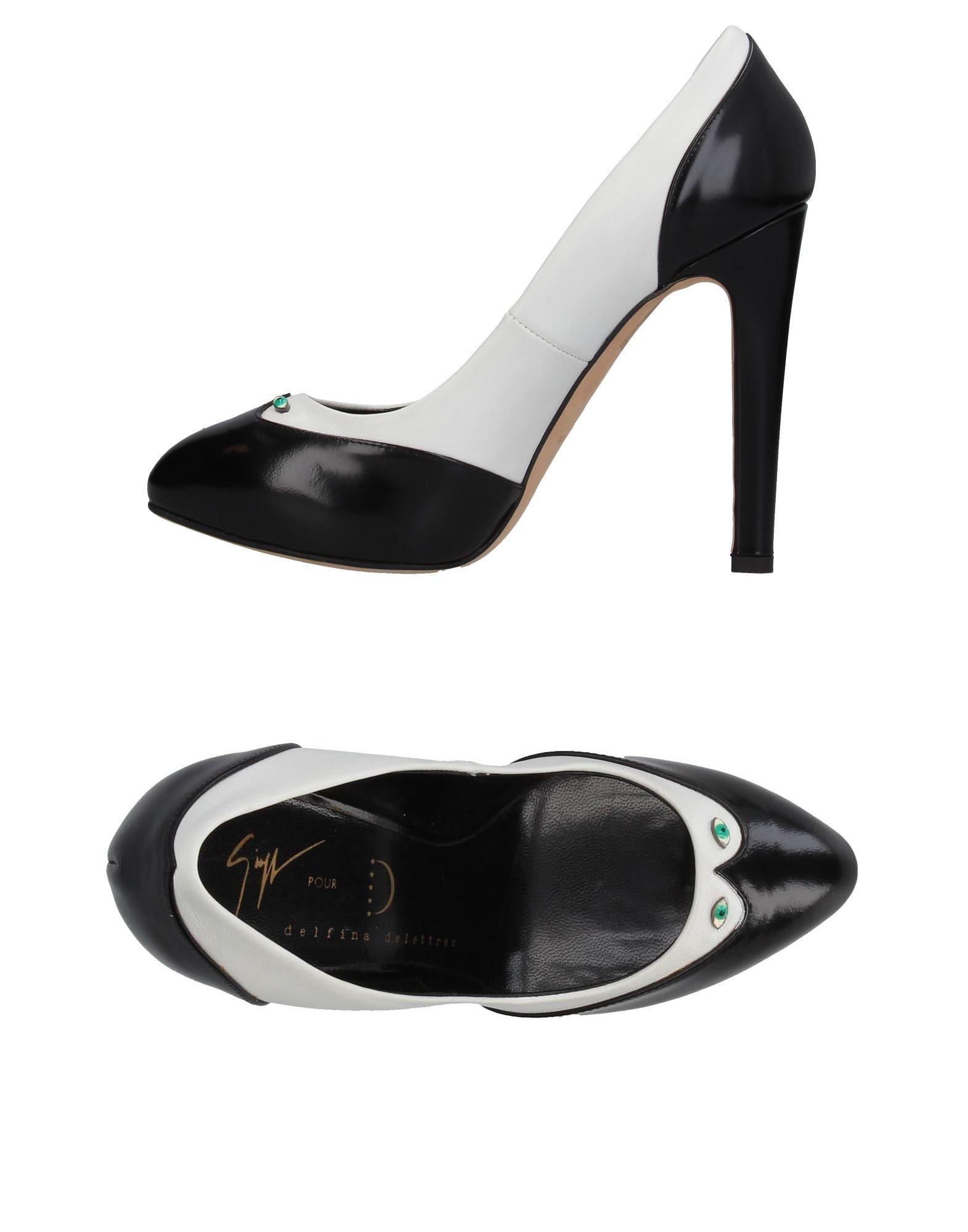 GIUSEPPE ZANOTTI DESIGN pour DELFINA DELETTREZ Туфли giuseppe zanotti design лакированные туфли черного цвета
