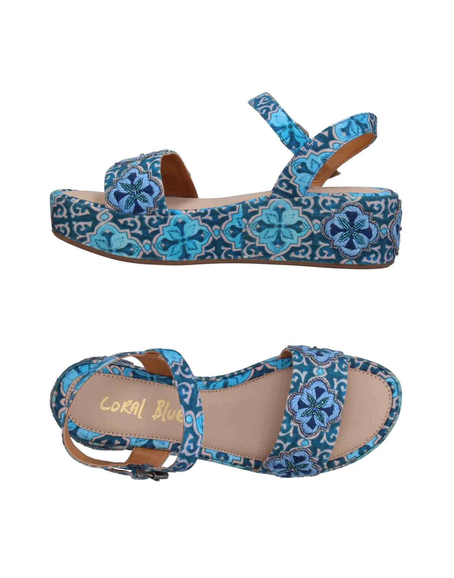 《送料無料》CORAL BLUE レディース サンダル ディープジェード 38 紡績繊維