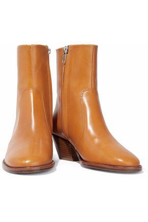 ISABEL MARANT ÉTOILE Burnished-leather ankle boots