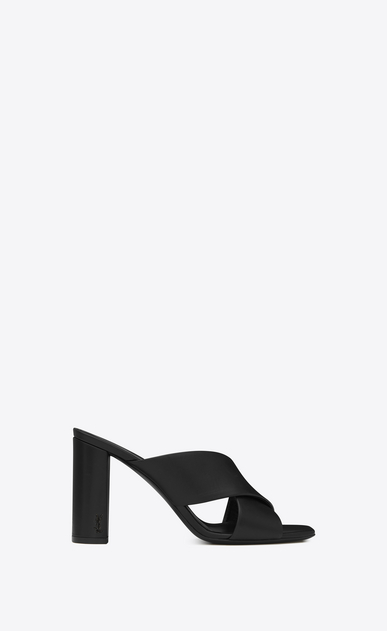 loulou 95 mule sandal in black leather