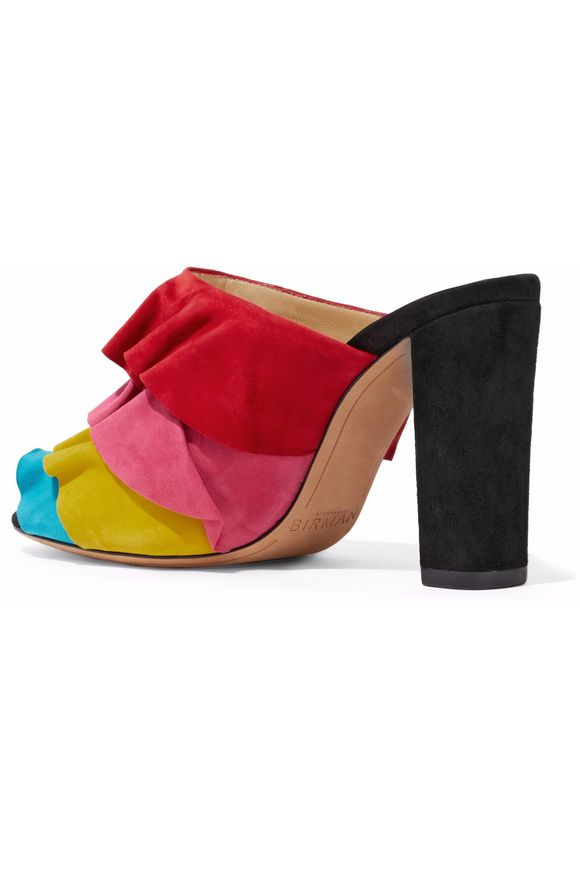 Mili ruffled suede mules | ALEXANDRE BIRMAN | Sale up to 70% off | THE  OUTNET