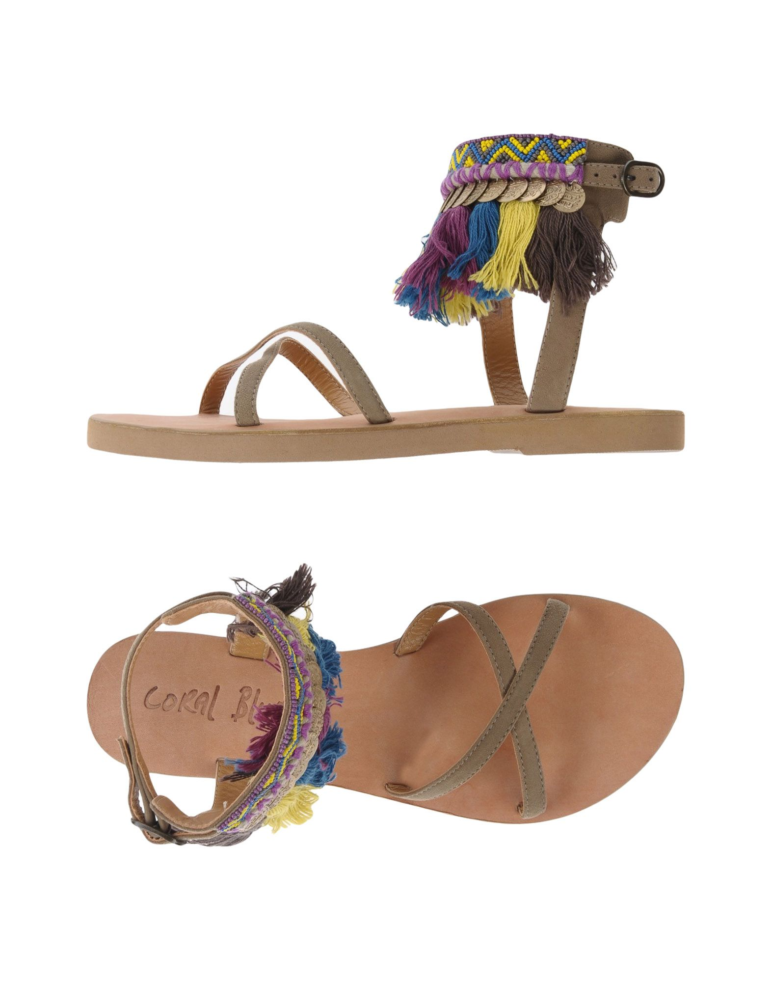 CORAL BLUE Sandals in Khaki