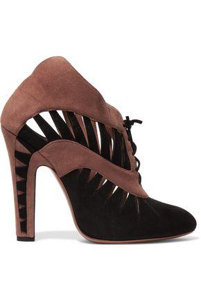 ALAÏA Cutout suede ankle boots