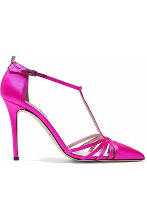 ZUHAIR MURAD Cutout satin pumps