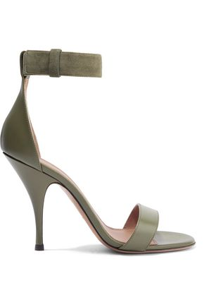 GIVENCHY Retra suede-trimmed leather sandals