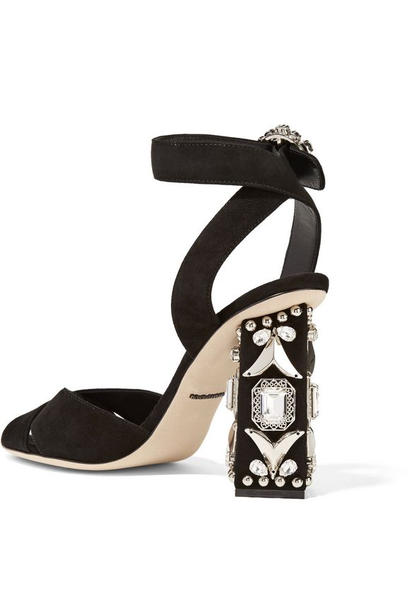 Bianca embellished suede sandals   DOLCE & GABBANA   Sale up to 70% off    THE OUTNET