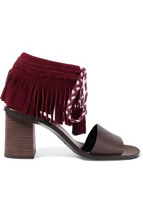 SEE BY CHLOÉ Fringed suede and leather sandals